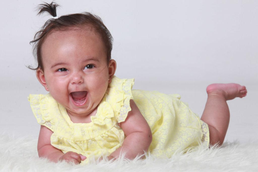lachende foto baby
